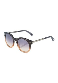 TOM FORD Plastic/Metal Round Ombre Frames