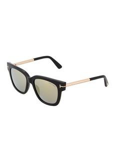 TOM FORD Plastic/Metal Square Sunglasses
