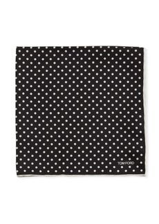 TOM FORD Polka Dotted Silk Pocket Square