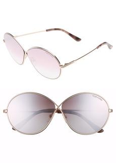 Tom Ford Rania 64mm Oversize Round Sunglasses