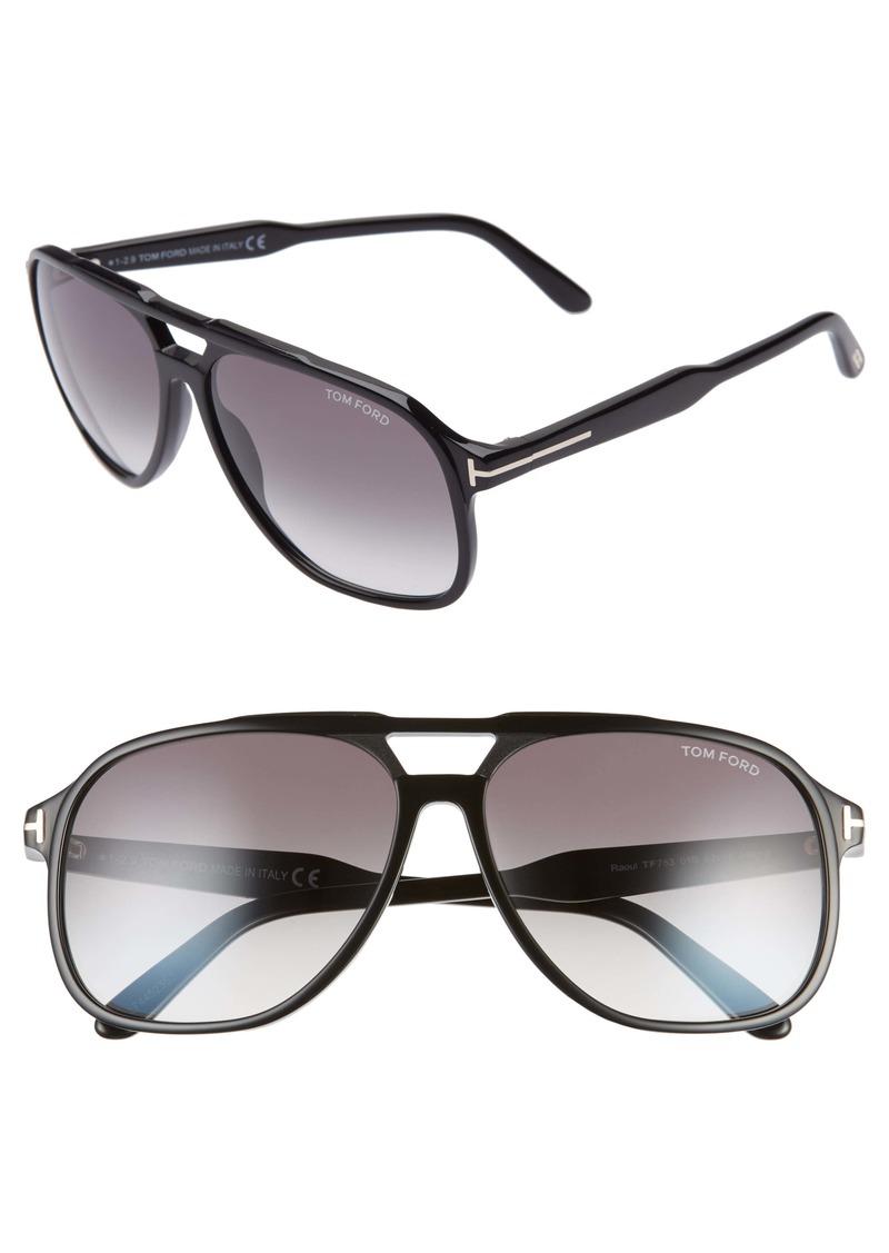 Tom Ford Raoul 62mm Gradient Navigator Sunglasses