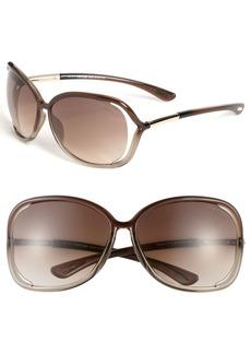 Tom Ford 'Raquel' 63mm Oversized Open Side Sunglasses