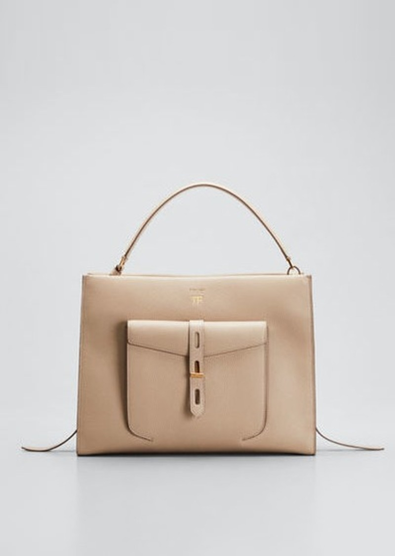 TOM FORD Rialto Grain Medium Top Handle Bag
