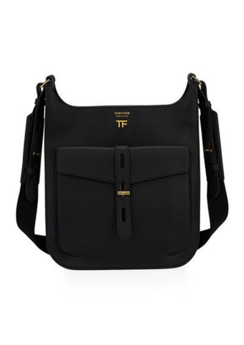TOM FORD Rialto Medium Grain Leather Crossbody Bag