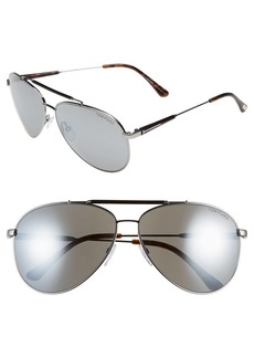 Tom Ford 'Rick' 62mm Aviator Sunglasses
