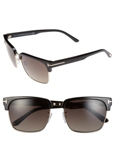 Tom Ford 'River' 57mm Polarized Vintage Square Sunglasses