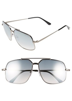 Tom Ford 'Ronnie' 60mm Aviator Sunglasses