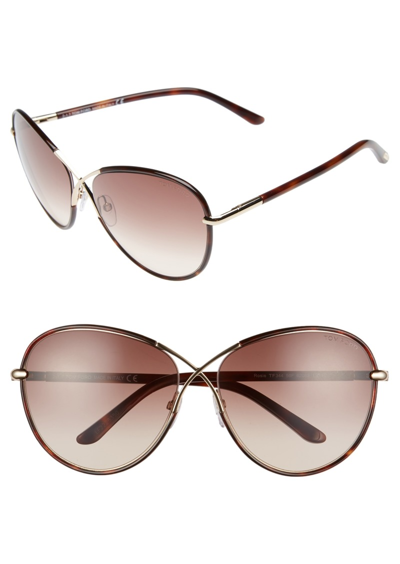 ef2acb2921428 Tom Ford Tom Ford Rosie 62mm Gradient Butterfly Sunglasses