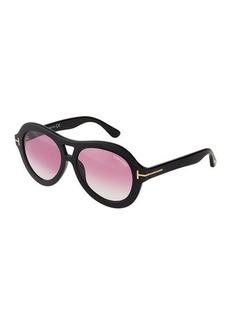 TOM FORD Round Acetate Large Sunglasses