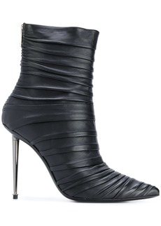Tom Ford ruched stiletto ankle boots - Black