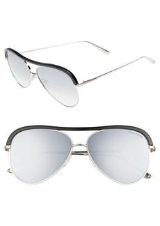 Tom Ford Sabine 60mm Aviator Sunglasses