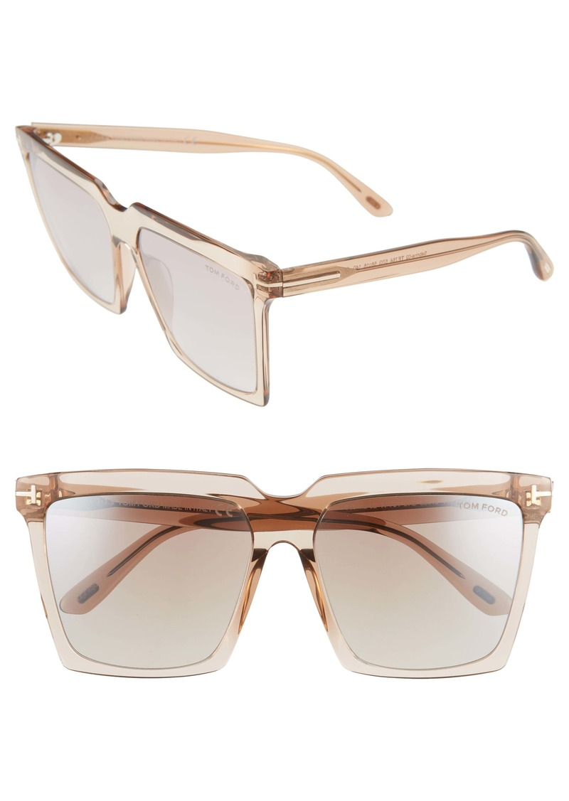 Tom Ford Sabrina 58mm Square Sunglasses