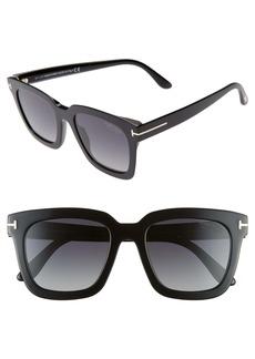 Tom Ford Sari 52mm Square Polarized Sunglasses