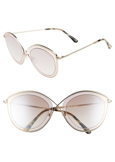 Tom Ford Sascha 55mm Butterfly Sunglasses