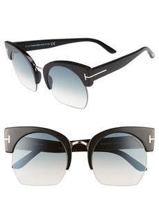 Tom Ford Savannah 55mm Cat Eye Sunglasses
