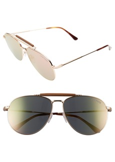 Tom Ford Sean 60mm Aviator Sunglasses