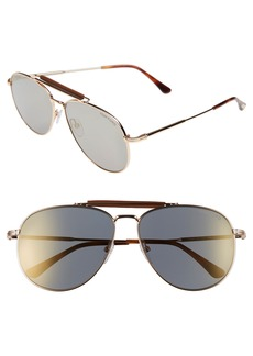 Tom Ford Sean 61mm Aviator Sunglasses