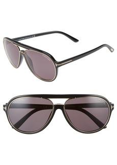 Tom Ford 'Sergio' 60mm Open Bridge Navigator Sunglasses