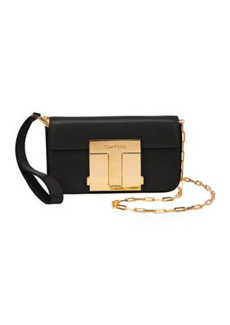 TOM FORD Shiny Goat T-Clasp Mini Crossbody Bag