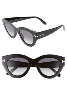 Tom Ford Slater 51mm Cat Eye Sunglasses