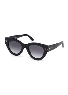 TOM FORD Slater Chunky Round Acetate Sunglasses