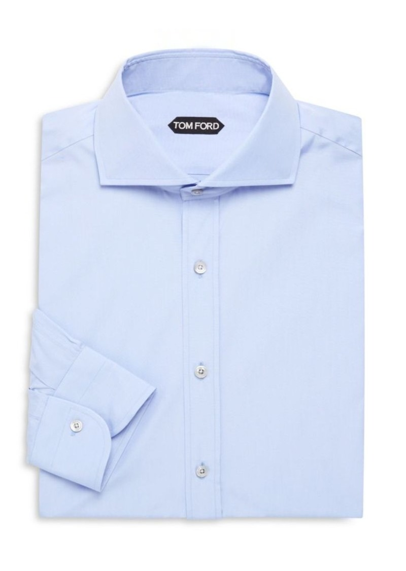 Tom Ford Solid Cotton Dress Shirt
