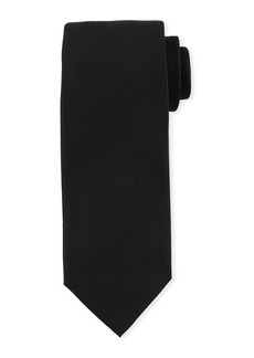 TOM FORD Solid Silk/Linen Tie