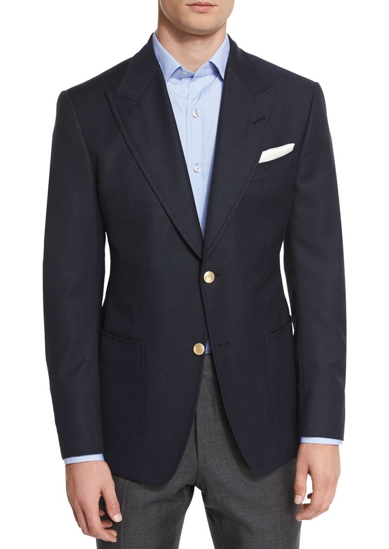 TOM FORD Spencer Base Two-Button Blazer  Navy