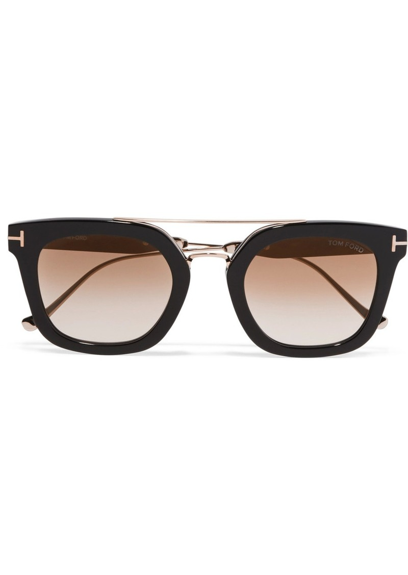 be3b4092dd Tom Ford Square-frame acetate and gold-tone sunglasses
