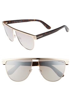 Tom Ford Stephanie 60mm Mirrored Sunglasses