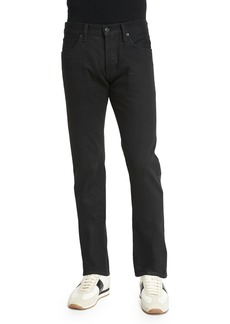 TOM FORD Straight-Fit Resin-Coated Selvedge Jeans