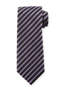 TOM FORD Striped Silk 8cm Tie  Purple