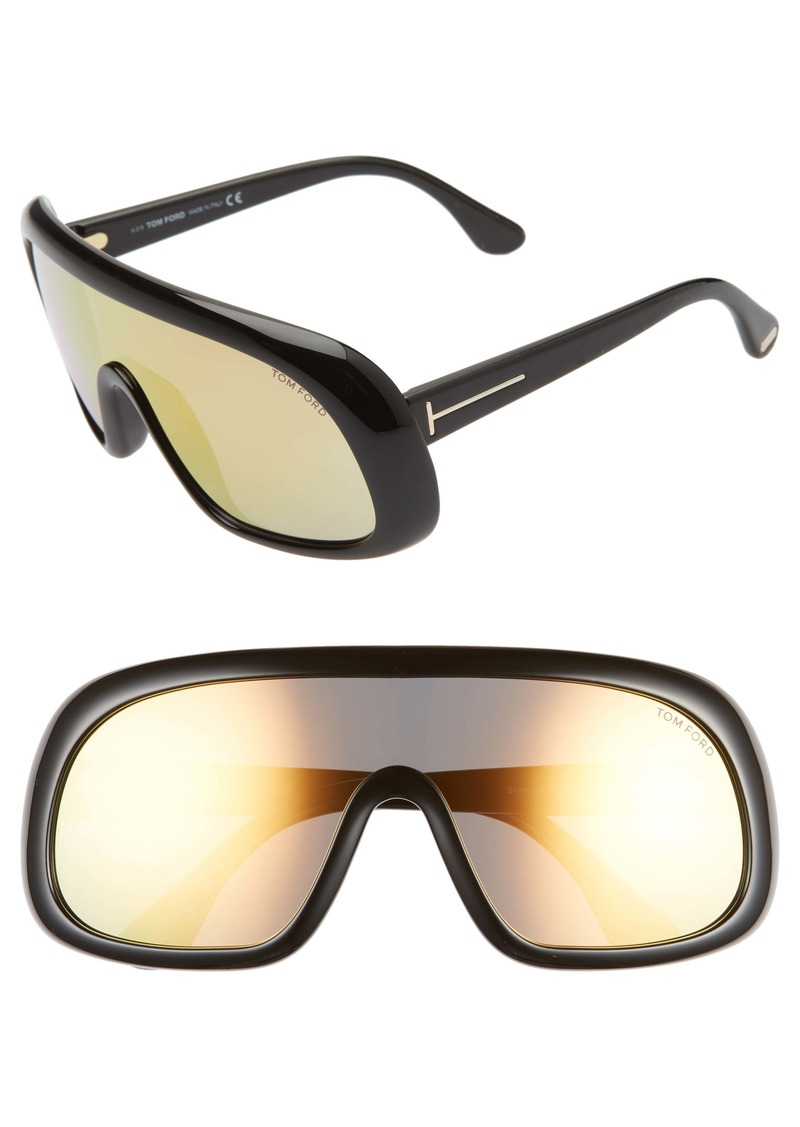 Tom Ford 'Sven' Shield Sunglasses
