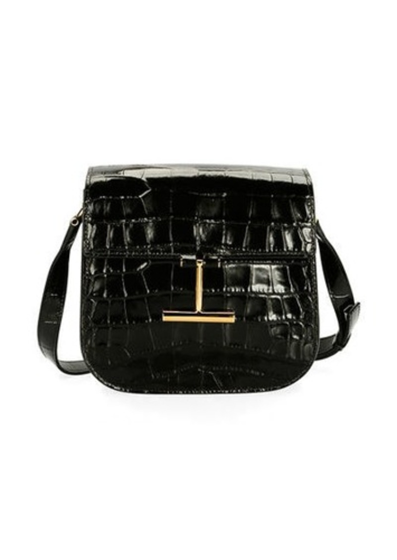 TOM FORD Tara Small T Clasp Alligator Shoulder Bag