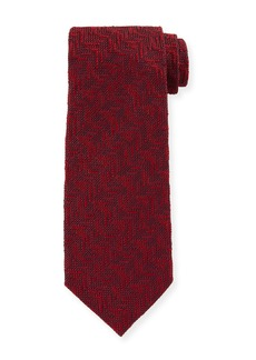 TOM FORD Textured Chevron Silk Tie  Red