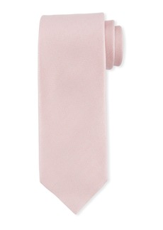 TOM FORD Textured Solid Silk/Linen Tie  Pink