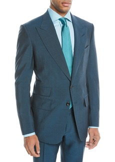TOM FORD Textured Wool-Blend Two-Piece Suit