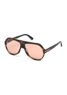 TOM FORD Thomas Transparent Acetate Aviator Sunglasses