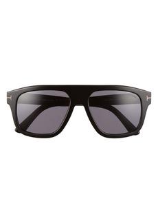 Tom Ford Thor 56mm Navigator Sunglasses