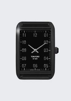 TOM FORD TIMEPIECES Matte Stainless Steel with Black DLC Case  Matte Black Velvet Dial  Large