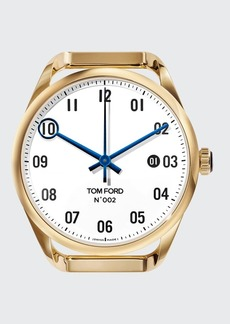 TOM FORD TIMEPIECES Men's Automatic Round 18K Gold Case  White Dial  Large
