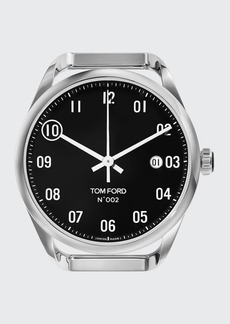 TOM FORD TIMEPIECES Men's Automatic Round Polished Stainless Steel Case  Black Dial  Large
