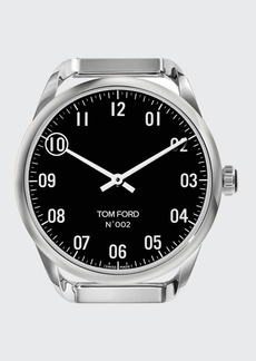 TOM FORD TIMEPIECES Men's Round Polished Stainless Steel Case  Black Dial  Large