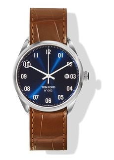 TOM FORD TIMEPIECES N.002 40mm Round Alligator Leather Watch