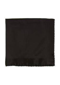 TOM FORD Tonal Border Silk Pocket Square  Black