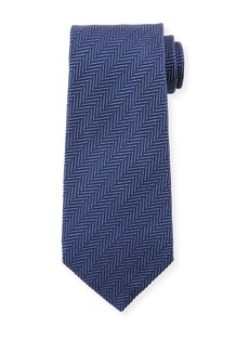 TOM FORD Tonal Stripes 9.5cm Silk/Cotton Tie  Blue