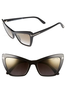 Tom Ford Valesca 55mm Cat Eye Sunglasses