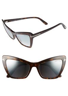Tom Ford Valesca 55mm Cat Eye Sunglasses