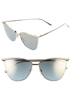 Tom Ford Veronica 58mm Gradient Mirrored Cat Eye Sunglasses