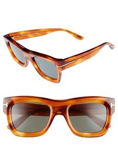 Tom Ford Wagner 52mm Geometric Sunglasses